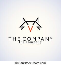 Fox logo ideas design vector illustration graphic on background