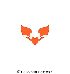 Fox logo template vector