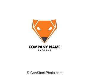 Fox logo template vector icon illustration design