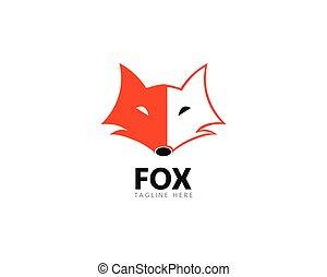 Fox logo template vector icon illustration