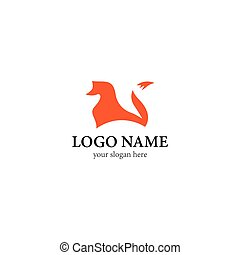 Fox logo vector icon