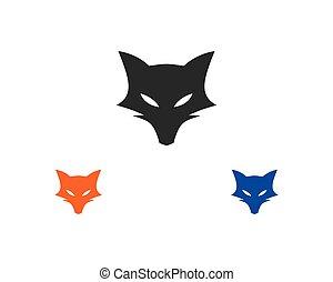 fox logo vector ilustration template