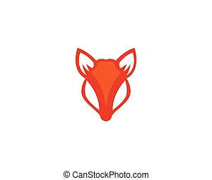 Fox logo vector template illustrator