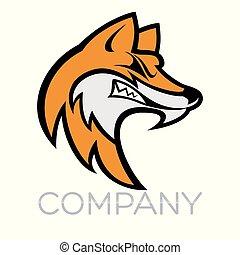 Fox mascot logo