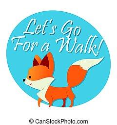 Fox - modern vector phrase flat illustration.