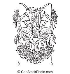 Fox Pattern style zentangl