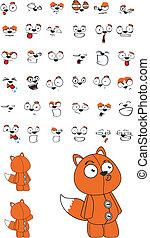 fox plush cartoon set