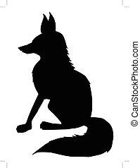 fox, side view