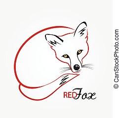 Fox silhouette logo