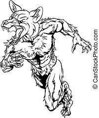 Fox sports mascot sprinting