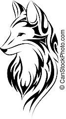 Fox tattoo simple design