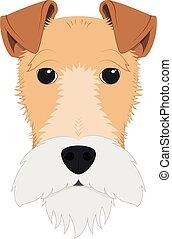 Fox Terrier dog isolated on white background vector illustration