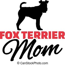 Fox Terrier Mom with dog silhouette