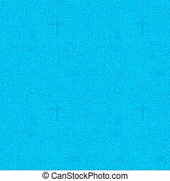 foyer bleu, ligne, seamless, modèle