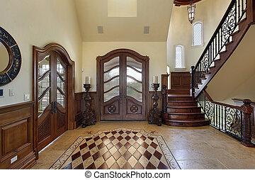 foyer, desenho, chão