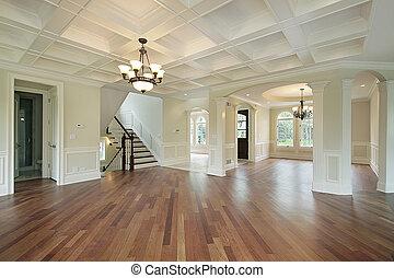 foyer, do, čerstvý, konstrukce, domů