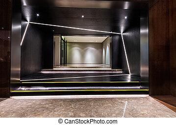 foyer, entrée, secteur, de, a, bâtiment