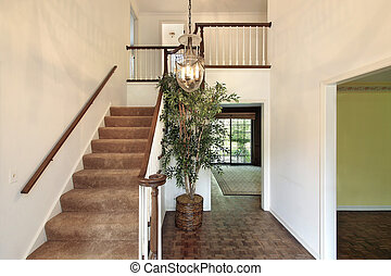 Foyer in vacant home