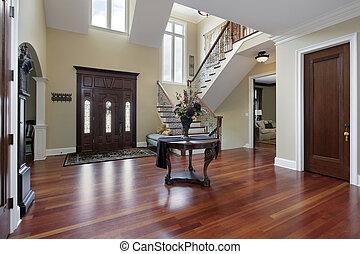 foyer, ind, luksus til hjem