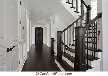 foyer, ind, nye, konstruktion, hjem