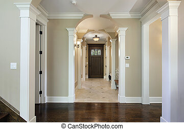 Foyer with arched entry - Foyer in new construction home ...