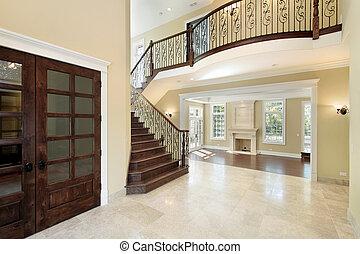 Foyer with balcony