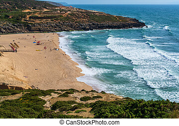 Foz do Lisandro Beach in Ericeira Portugal. - Foz do ...