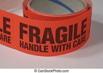 frágil, cinta