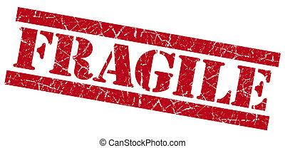 frágil, grunge vermelho, selo