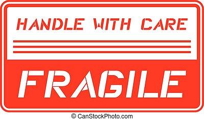 frágil, mensagem