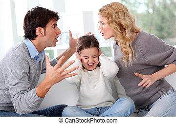 främre del, strida koppla, barn