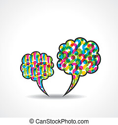 fråga, bubbla, meddelande, märke