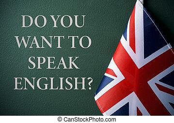 fråga, göra, dig, vilja, till tala, english?