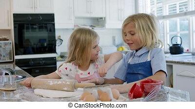 frères soeurs, maison, noël cookie, confection