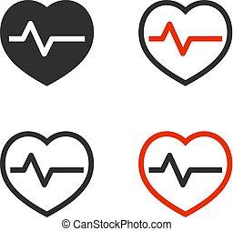 fréquence cardiaque, icônes