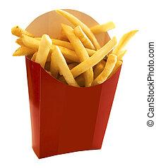 fríe, caja roja, francés