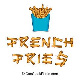 fríe, francés
