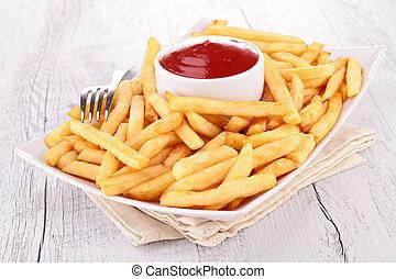 fríe, salsade tomate, francés