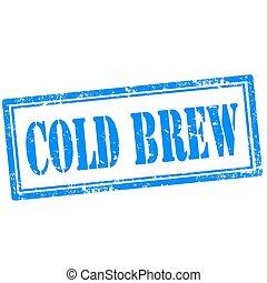 frío, brew-stamp