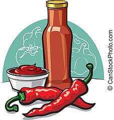 frío, salsade tomate