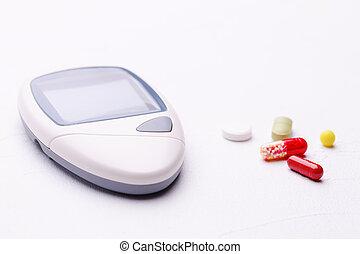 frío, termómetro, medicina, phonendoscope
