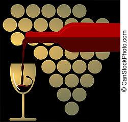 fröcskölő, vörös bor