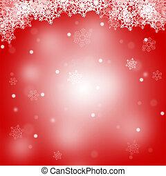 fröhlich, abstrakt, weihnachten, hintergrund, rotes