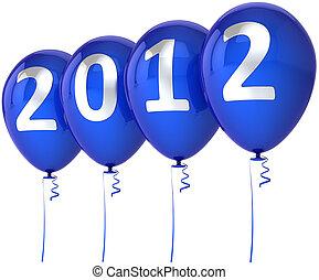 fröhlich, jahr, neu , 2012, weihnachten, glücklich