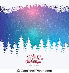 fröhlich, winter, bunte, verschneiter , hintergrund, weihnachten