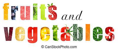 früchte gemüse, begriff