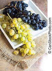früchte, lieb, weinlese, ansicht
