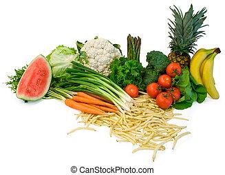 früchte, veggies, anordnung