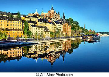 früh, sommer, stockholm, morgen