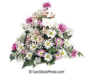 frühjahrsblumen, mit, karte